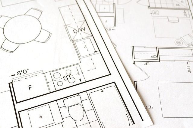 תכנית הנדסית של בית או דירה